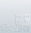 2015 Happy New Year background in Typography style vector image