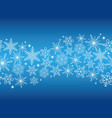 a seamless winter background with snowflakes vector image