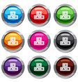 abc cubes set 9 collection vector image vector image