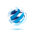 abstract globe symbol vector image vector image