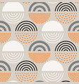 abstract mid century pattern vector image vector image
