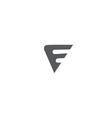 Alphabet letter F black white grey logo icon desig vector image vector image