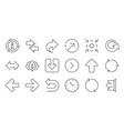Arrow icons download synchronize and share