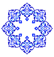 artistic ottoman pattern series ninety eight vector image vector image