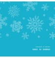 Blue lace snowflakes textile vertical frame vector image vector image