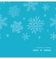 Blue lace snowflakes textile vertical frame vector image