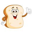 bread slice cartoon vector image
