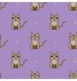 Brown cartoon cute cat background vector image vector image