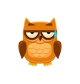 Brown Owl In Cold Sweat vector image vector image