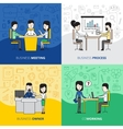 Business People Square Design Concept vector image vector image