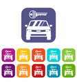 car and key icons set vector image vector image