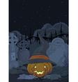 Cemetery pumpkin vector image vector image