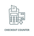 checkout counter line icon checkout vector image vector image
