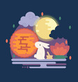 chinese mid autumn festival vector image vector image