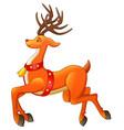 christmas cute deer cartoon design vector image