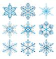 Christmas snowflakes vector image vector image