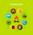 concept summer camp vector image vector image