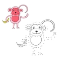 connect dots game monkey vector image