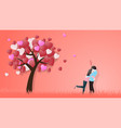 creative of love valentines day concept love vector image