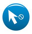 cursor stop icon blue vector image vector image