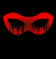dark and red half-mask vector image vector image