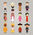 different ethnic people vector image