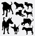 Dog pet animal silhouette 12 vector image vector image