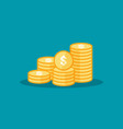 dollar pile coins icon gold golden money stack vector image vector image