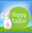 easter background with cute bunny in grass vector image vector image