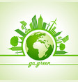 ecology concept with eco cityscape vector image vector image