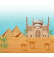 egypt pyramids card background desert view