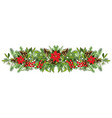 festive garland isolated on white background vector image vector image