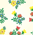 Floral seamless pattern Texture with flowe vector image vector image