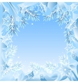 Frame of fir branches frozen vector image vector image