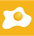 fried egg isolated on yellow background fried egg vector image vector image