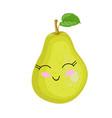 funny cartoon cute ripe pear funny face vector image vector image