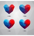 Geometric shapes heartTemplate for Valentines Day vector image