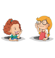 Girls talking vector image