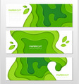 grass green abstract layout - set of modern vector image vector image