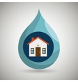 house and ecology isolated icon design vector image