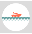 icon cruise liner vector image