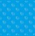 imperial tamarin pattern seamless blue vector image