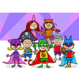kids group at mask ball cartoon vector image