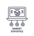 market statistics line icon concept market vector image vector image