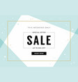 minimal sale banner template vector image