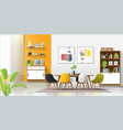 modern colorful dining room vector image