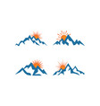 mountain logo design template vector image vector image