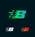 number 8 modern speed shapes logo design vector image