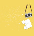 old vintage camera and paper vector image vector image
