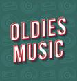 oldies music vintage 3d lettering retro bold font